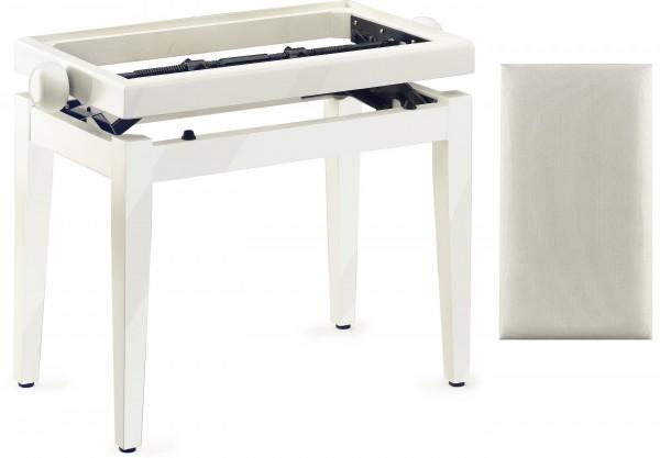 Stagg Klavierbank weiß poliert